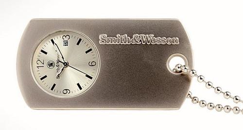 Smith & Wesson W1564SLV Dog Tag Neck Watch - Silver