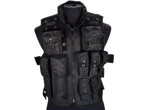 Fire Dragon SWAT Law Enforcement Replica Tactical Vest w/ Patches