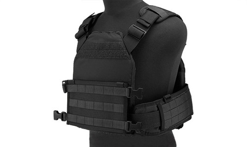 HSGI MPC Modular Plate Carrier- Black (Medium Carrier / X-Large Sure Grip)