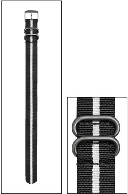 Luminox FN.L.3950.10 NATO Style Black/White Nylon Strap