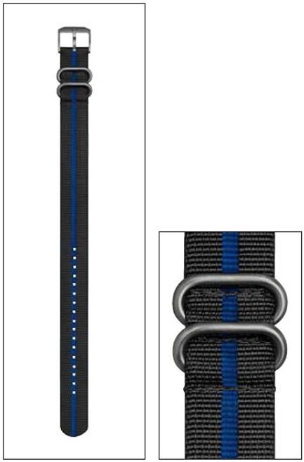 Luminox FN.L.3950.40 NATO Style Black/Blue Nylon Strap