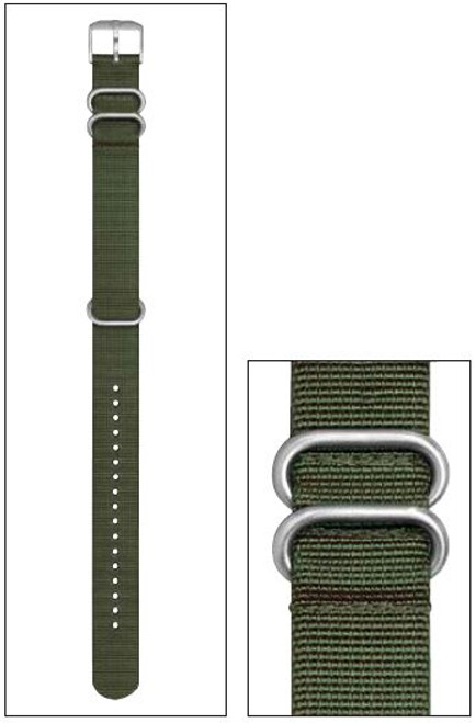 Luminox FN.L.8800.60 NATO Style Strap With 2 Loops - OD Green