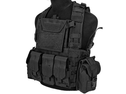 Lancer Tactical CA307 Modular Chest Rig - Black