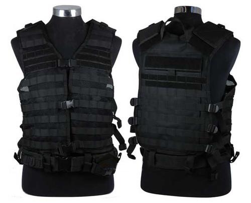 NcSTAR Tactical MOLLE Vest w/ Hydration Pouch and Pistol Belt. (Black)