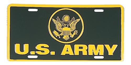 License Plate - U.S. Army