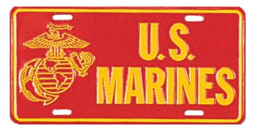License Plate - U.S. Marines
