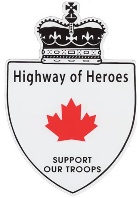 """Car Magnet - Highway Of Heroes 8"""""""