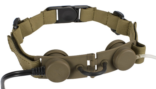 Bravo Airsoft Throat Mic w/ PTT - Dark Earth / Motorola Talkabout
