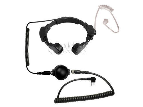 Code Red Headsets ASSAULT Tactical Throat Mic w/ PTT - Motorola 2-Pin