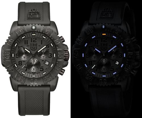 Luminox Sea A.3081.BO Colormark Chronograph Series Blackout