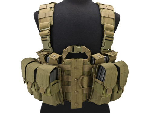 Lancer Tactical High Speed M4/M16 Chest Rig - Tan