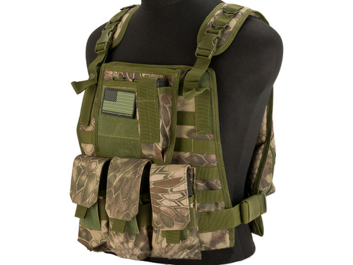 Avengers Tactical Spec. OPS MOLLE Plate Carrier / Load Bearing Vest - Woodland Serpent
