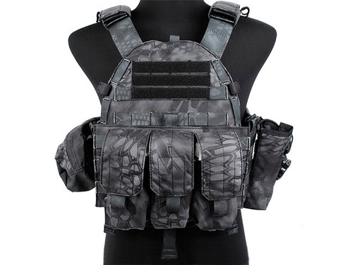 TMC Plate Carrier with 3 Pouches - Urban Serpent