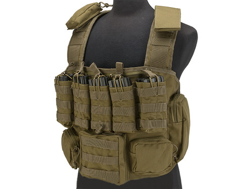 Voodoo Tactical MOLLE Tactical Chest Rig - Coyote