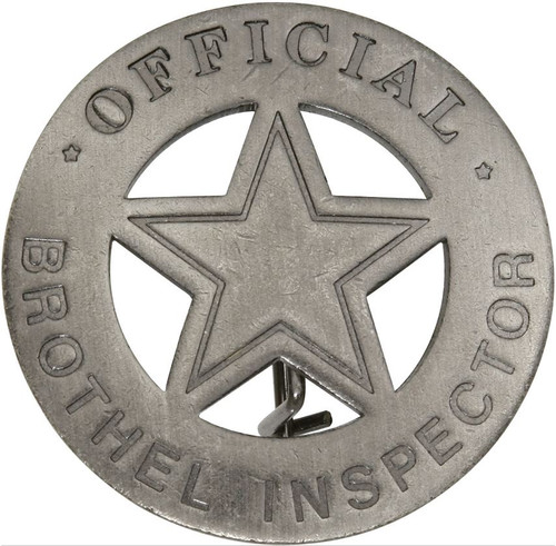 BOTOW Official Brothel Inspector Badge