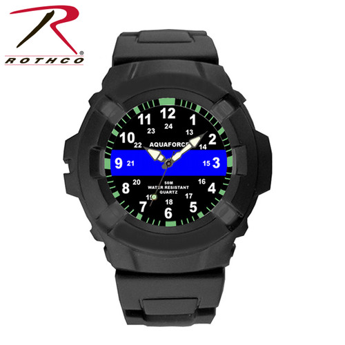 Aquaforce Thin Blue Line Watch