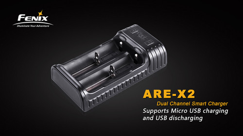 Fenix ARE-X2 Dual Bay Charger with USB Discharge Capability