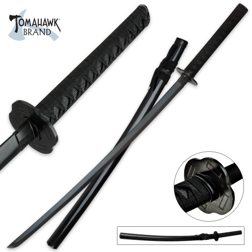 Black Emperor Katana Sword w/Scabbard