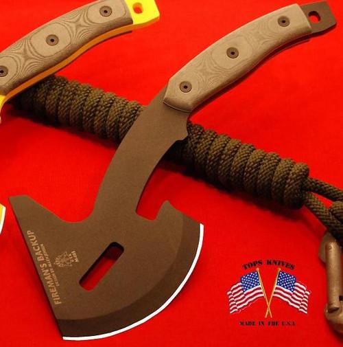 TOPS FB01 Fireman's Backup Axe w/Kydex Sheath