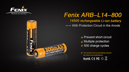 Fenix ARB - L14 Rechargeable 14500 Battery - 800 mAh
