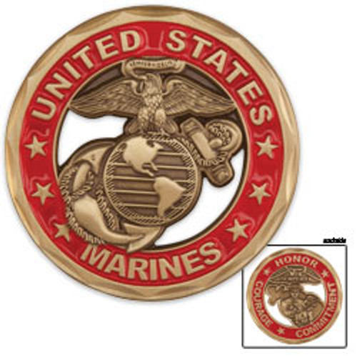 United States Marines Cutout Coin