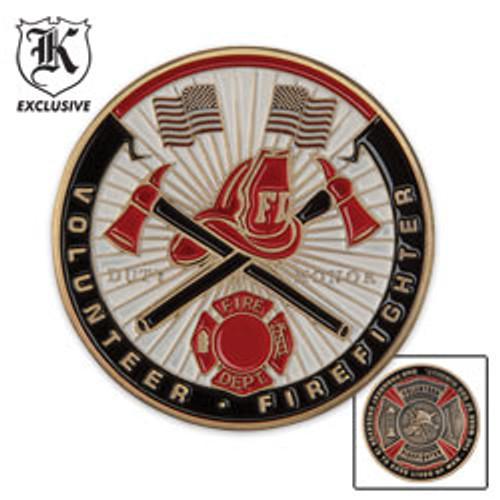 Volunteer Firefighter Challenge Coin