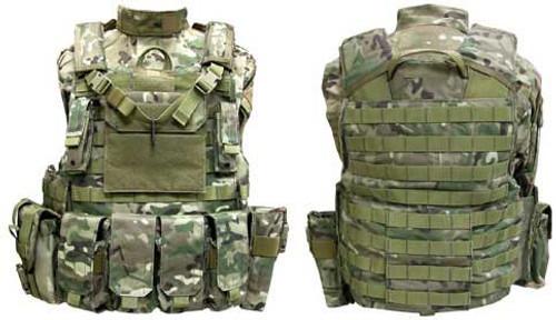 Phantom CORDURA 1000 Denier Force Recon Tactical Vest Full Set (Multicam / Medium)