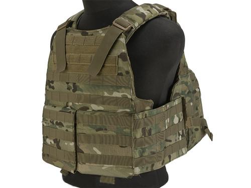 Voodoo Tactical MOLLE Hayden Plate Carrier for Soft or Hard Armor w/ Cummerbund & Hydration Carrier- Multicam