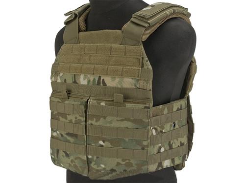 Voodoo Tactical MOLLE X-Lite Gen II Plate Carrier with MOLLE Cummerbund - Multicam (Large)