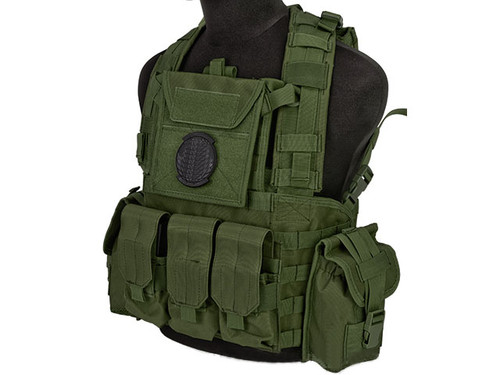 Lancer Tactical CA307 Modular Chest Rig - OD Green