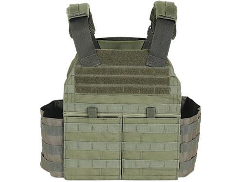 Voodoo Tactical MOLLE X-Lite Gen II Plate Carrier with MOLLE Cummerbund - OD Green (Large)