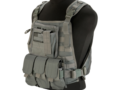 Avengers Tactical Spec. OPS MOLLE Plate Carrier / Load Bearing Vest - Grey