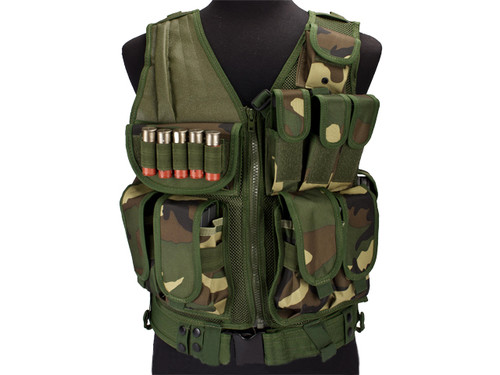 Airsoft Zombie Hunter Starter's Tactical Vest Package - Woodland