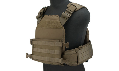 HSGI MPC Modular Plate Carrier- Coyote (Large Carrier / Medium Sure Grip)