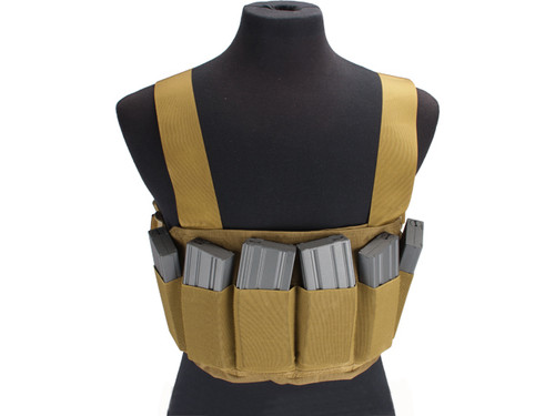 Matrix High SPEED Airsoft Chest  Rig - Coyote Brown