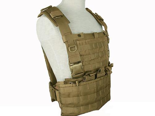 Matrix MOLLE Ready Tactical Commando Chest Rig Vest - Tan