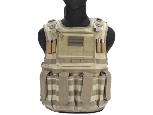 Matrix Tactical Systems Light Duo Strap Tactical Field Vest - Tan