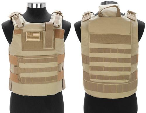 Matrix Tactical Systems Navy Seal Light Fighter Tactical PT Body Armor - Desert Tan