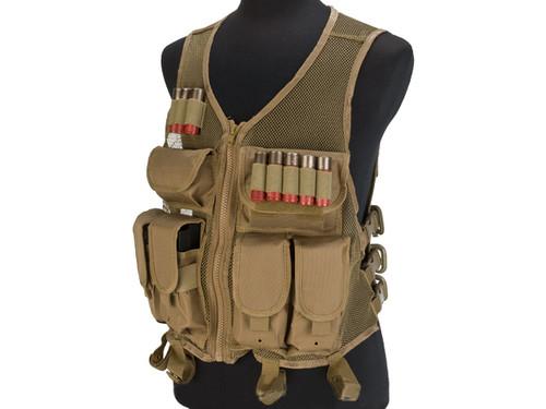 NcStar VISM Lightweight Mesh Tactical Vest - Tan