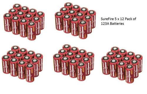 SureFire 60 123A Batteries 5 x 12 packs