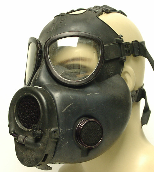 Gas Mask - U.S. Armed Forces M17A1 Gas Mask w/Chemical hood