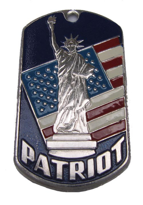 """Dog Tag - United Stated name tag """"PATRIOT"""""""