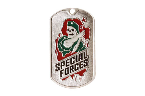 """Dog tag  - Russian Special Forces """"GREEN BERETS"""" (SKELETON)"""