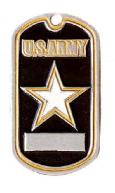 """Dog tag  - U.S. Army Logo """"Star"""""""