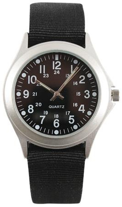 Military Style Quartz Watch - Black Strap