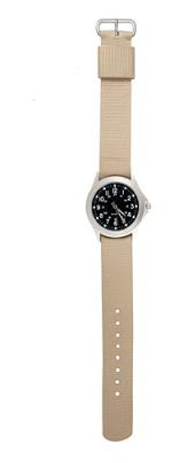 Military Style Quartz Watch - Khaki Strap