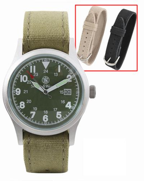 Smith & Wesson Military Watch Set - Olive Watch Face