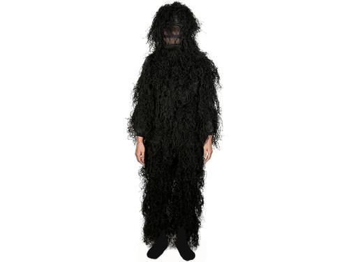 Adventure Gear Full Body 3-Piece Concealment Ghillie Suit Set for Children - Black (Size: Small/Medium)