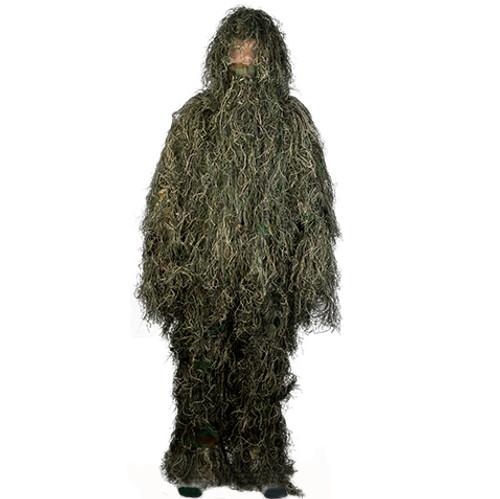Matrix Full Body 3-Piece Concealment Ghillie Suit Set - Woodland/Green