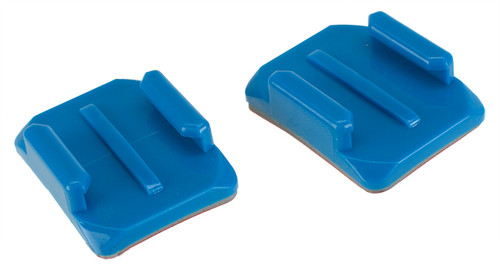 HERO Gear Curved Mount for GoPro Hero Wearable Cameras - Blue (Set of 2)